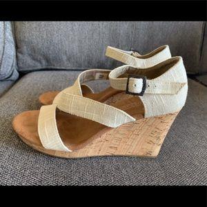 Toms Clarissa Canvas Sandals